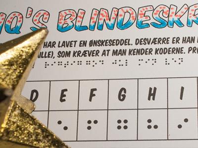 Blindeskrift opgave – hvad ønsker Maliq sig?