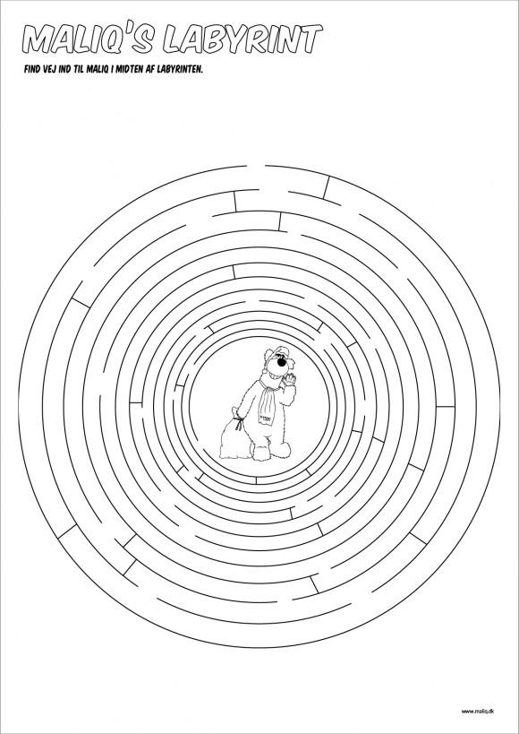 Børne labyrint - find vejen ind til Maliq
