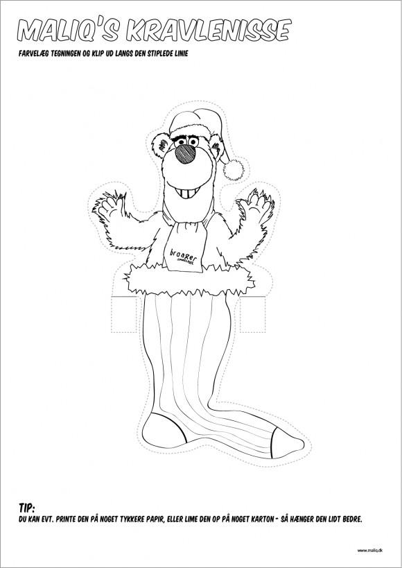 Juleklip - Maliq som kravlenisse julepynt