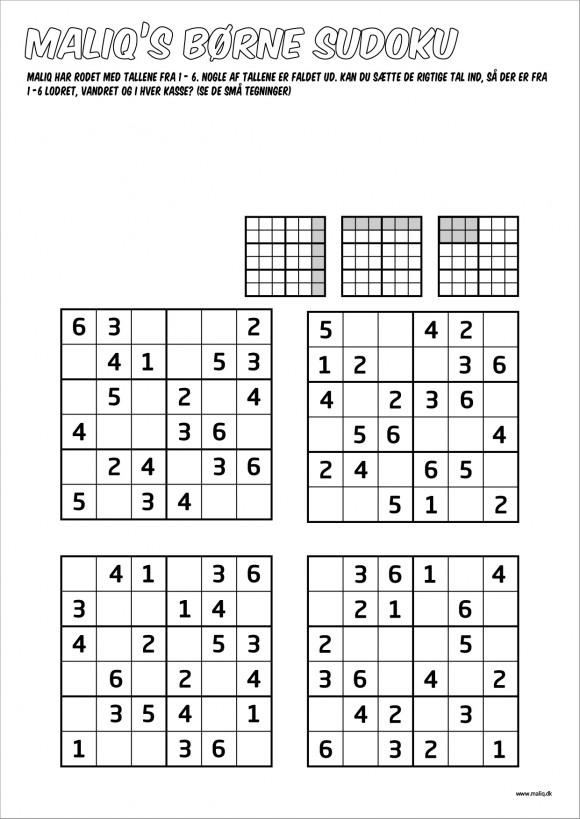 Nem Børne sudoku som du kan printe selv.